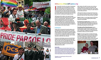 Inside spread of Diverse Sexualities staff Handbook for Bretn Council