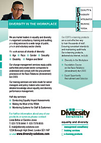 EDITS advertisement for Diversity Solutions