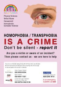 Hate Crime poster for Enfield Council