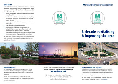 Meridian Business Park Association Leaflets