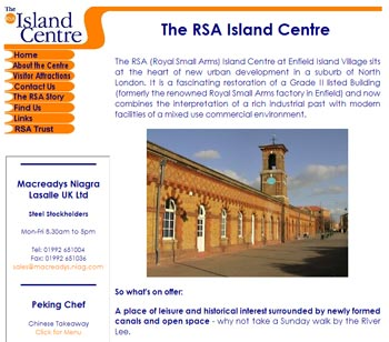 RSA Island Centre Website screenshot