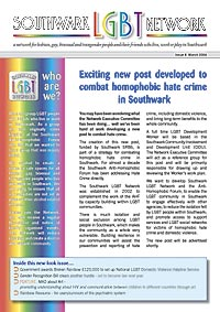 Southwark LGBT Network Newsletter cover