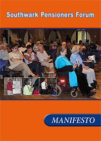 Cover from Southwark Pensioners Forum Manifesto
