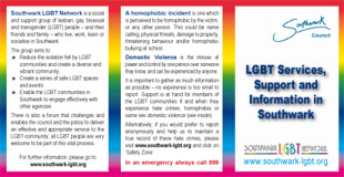 Southwark LGBT Network Safety Information Cards