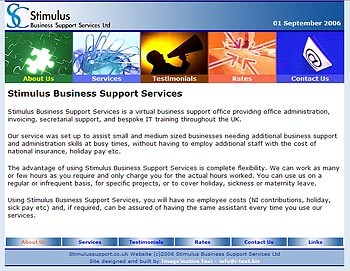 Stimulus Support Services Website